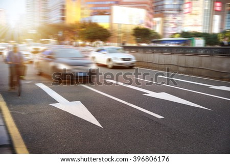 urban traffic  - stock photo