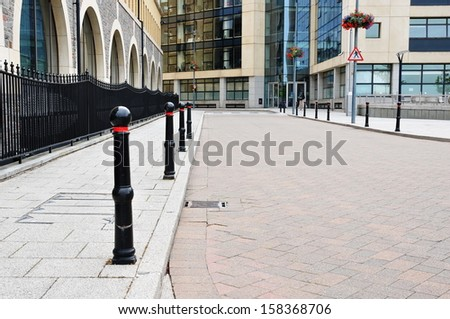 Urban View of an Empty High Street in a Typical English City Centre - stock photo