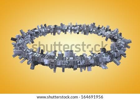 urbanization - stock photo