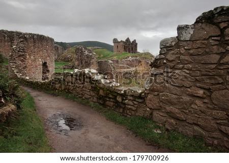 Urquhart Castle, Loch Ness, Scotland - stock photo