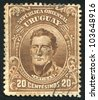 URUGUAY - CIRCA 1910: stamp printed by Uruguay, shows Jose Gervasio Artigas, circa 1910 - stock photo