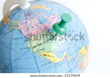 Us Globe Stock Images RoyaltyFree Images Vectors Shutterstock - Us globe map
