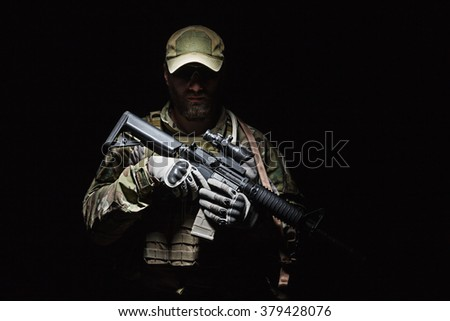 US Army Green Beret - stock photo