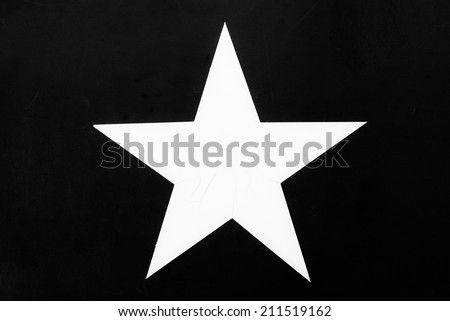 US Army Star Black and White - stock photo