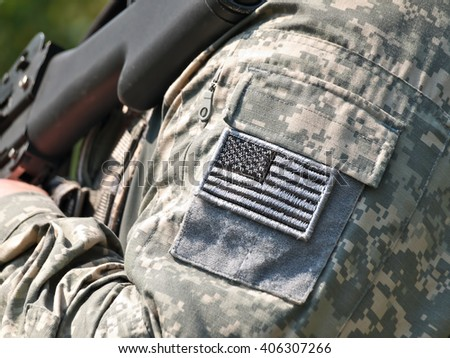 US Army uniform element - sleeve patch with flag