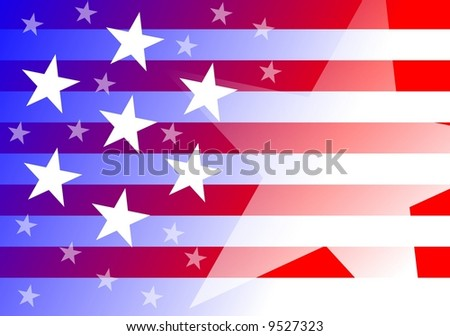 US background - stock photo