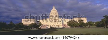 US Capitol at sunset, Washington DC - stock photo