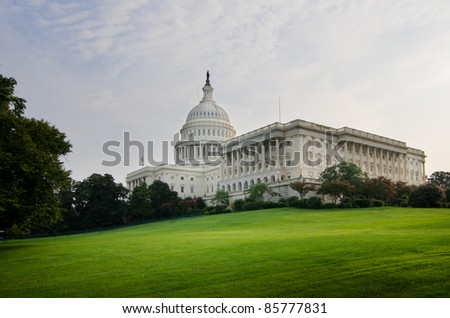 US Capitol Building, Washington DC USA - stock photo