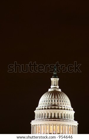US Capitol by night - stock photo