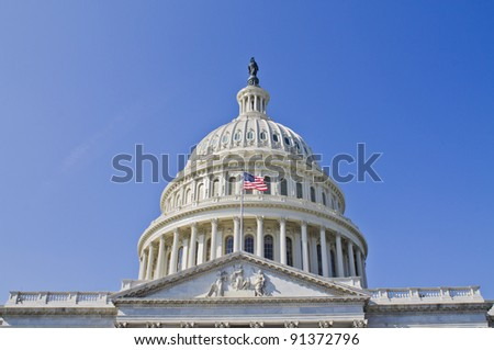 US Capitol dome,  Washington DC USA - stock photo