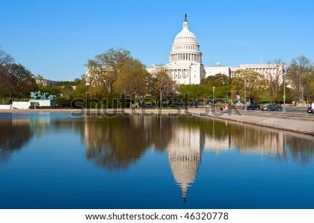US Capitol, Washington DC - stock photo
