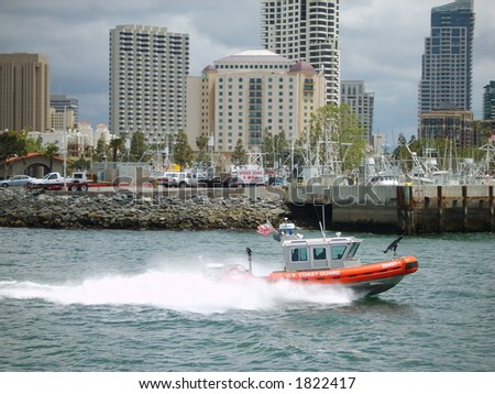 US Coast Guard in action - stock photo