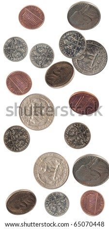 us crrency shot as if falling - stock photo