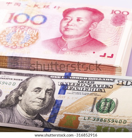 US dollar and CNY
