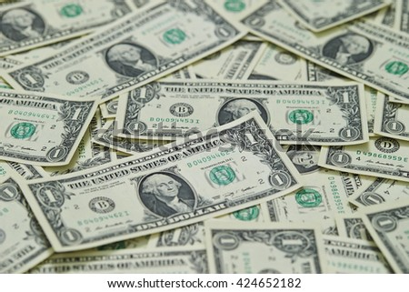 US dollar bills