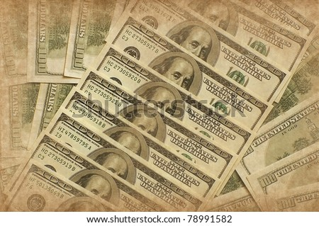 US dollar in grunge style - stock photo