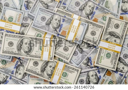 US dollar wallpaper money stack background - stock photo