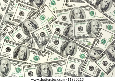 US dollars, abstract business background