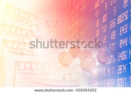 US dollars and finance background.
