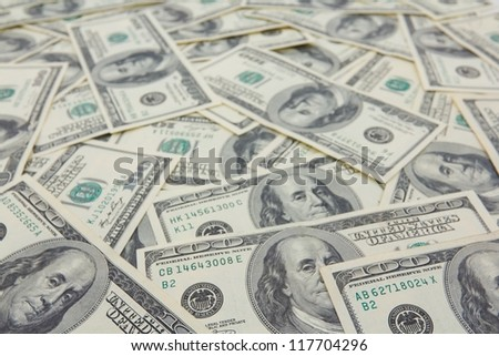 US dollars background