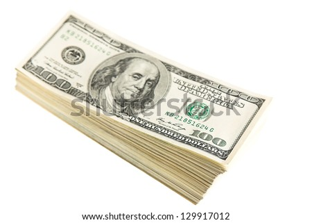 US Dollars isolated on white