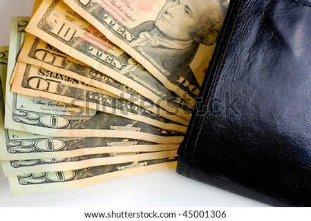 us dollars money on wallet