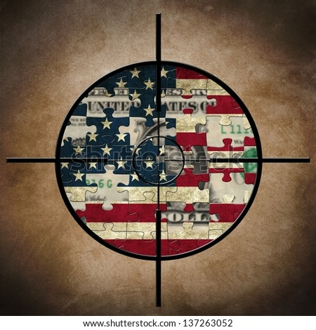 Us flag and dollar target