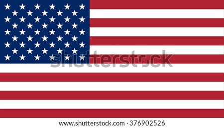 US Flag  made with strict proportions and size as well as the original color