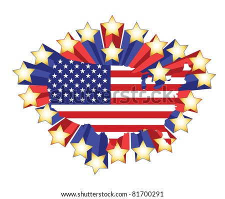 Usa Flag Shield Icon Logo Vector Stock Vector Shutterstock - Us flag map