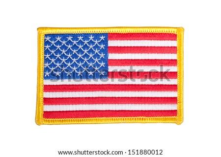 US FLAG  uniform badge - stock photo