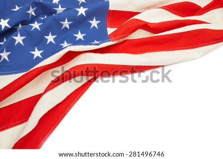 US flag with place for your text - stock photo