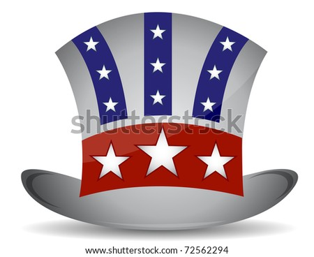 US hat illustration design isolated over a white background - stock photo