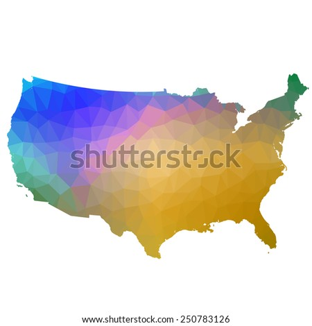 US in color triangle. Raster 1 Raster - stock photo