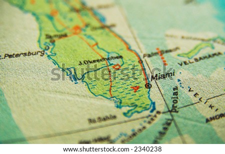 Miami Map Stock Images RoyaltyFree Images Vectors Shutterstock - Miami on us map