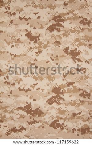 US marine desert marpat digital camouflage fabric texture background - stock photo