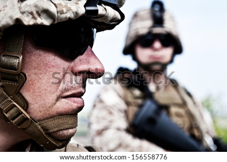 US marines - stock photo
