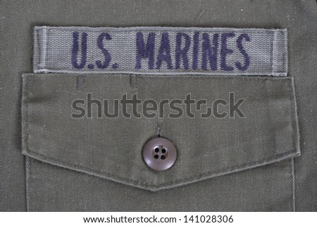 us marines uniform - stock photo
