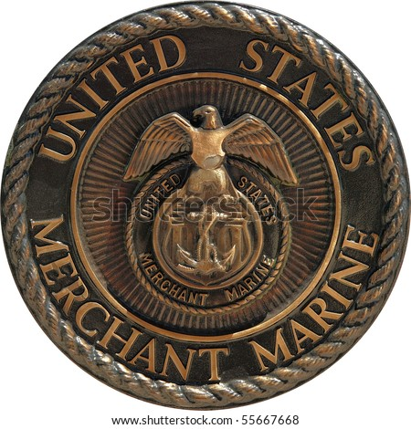 US Merchant Marine commemorative plaque - stock photo