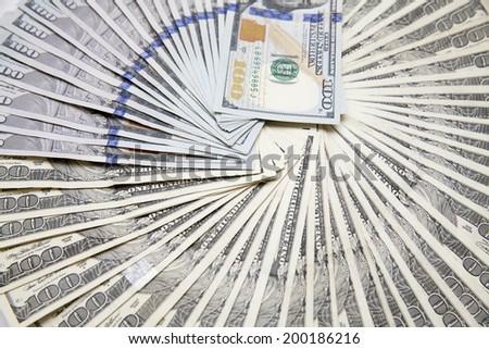US One Hundred Dollar Bills - stock photo