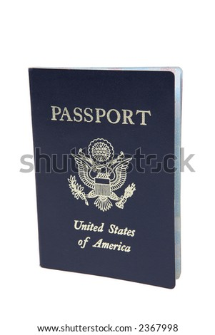 US Passport (Isolated) - stock photo