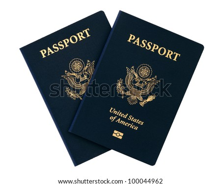 us passports over white background - stock photo