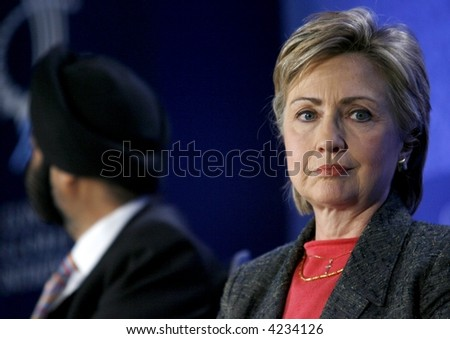 US Senator Hillary Rodham Clinton l - stock photo