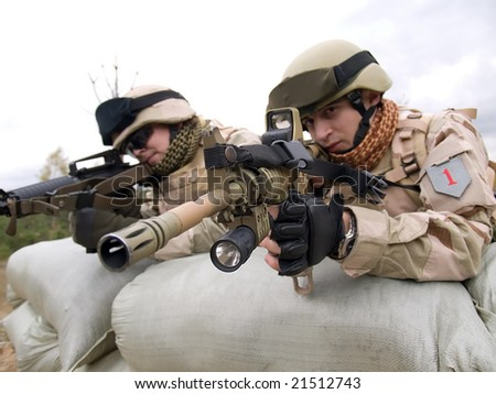 US soldiers in action