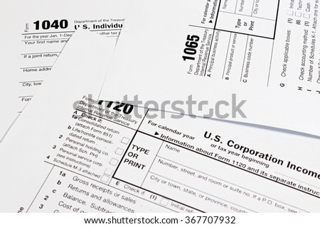 US tax form / taxation concept