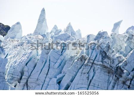 USA - Alaska - Margerie Glacier - Glacier Bay National Park and Preserve - Travel Destination / Alaska Glacier National Park, Glacier Texture - stock photo