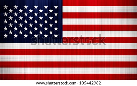 USA American Flag with a fabric texture - stock photo