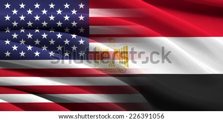 USA and Egypt. Relations between two countries. Conceptual image.  - stock photo