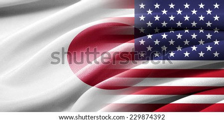 USA and Japan. Relations between two countries. Conceptual image. - stock photo