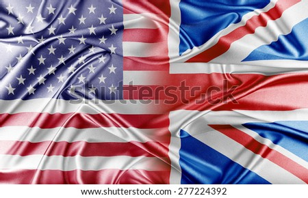 USA and United Kingdom. Relations between two countries. Conceptual image. - stock photo