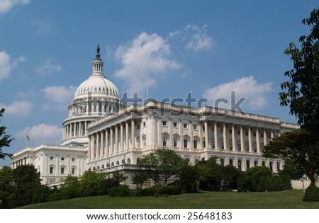 USA capitol building in Washington DC - stock photo